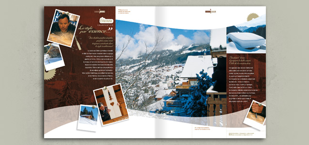 Pages village de la brochure hiver de Ch�tel